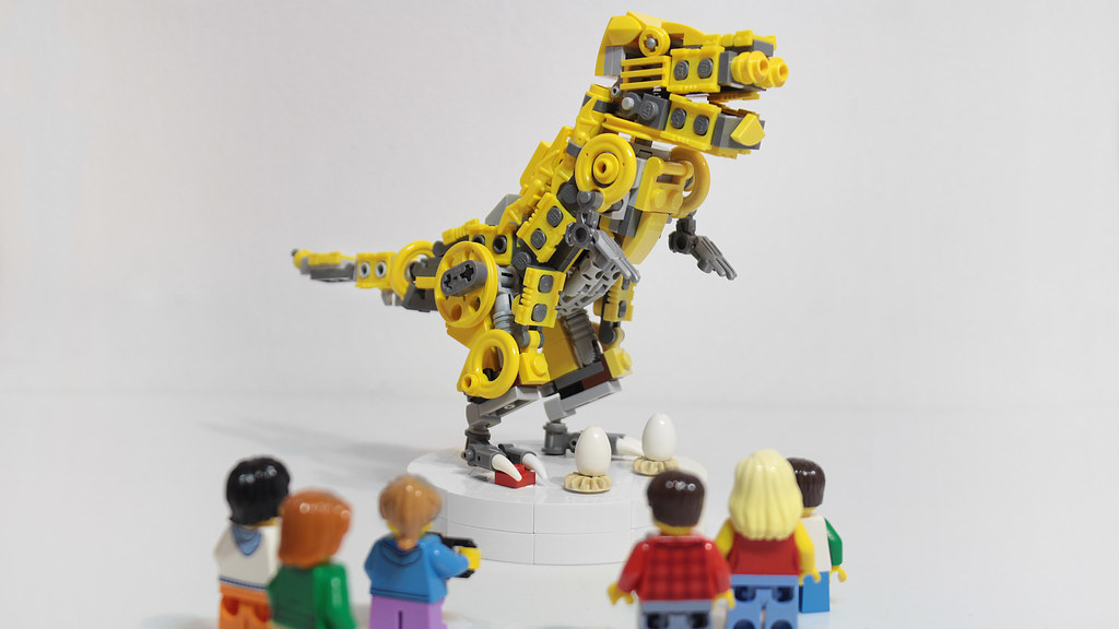 The Technic dino from the Lego House