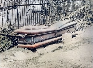 Caved in Casket from Hurricane Agnes   by Joseph Cerulli