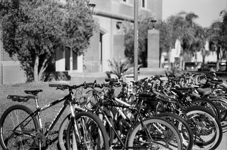 bicycles. buildings. blur. | by littletinperson