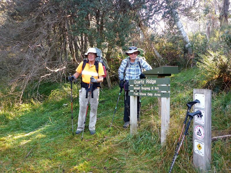 Start of the Quartz Ridge walking track