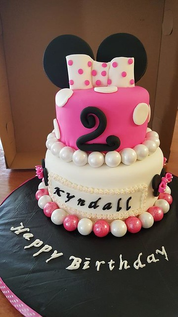 Minnie Mouse Cake by Custom Cakes & More