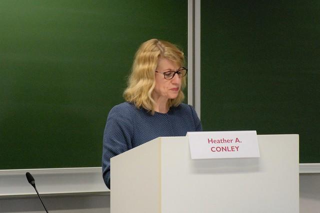 High-Level Transatlantic Lecture by Heather A. CONLEY.10 april 2019