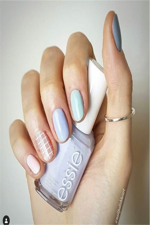 30+ Glamorous Pastel Nail Art Ideas Trends 2019 #nail_art_designs #trendy_nails #spring_nails #pastel_nails