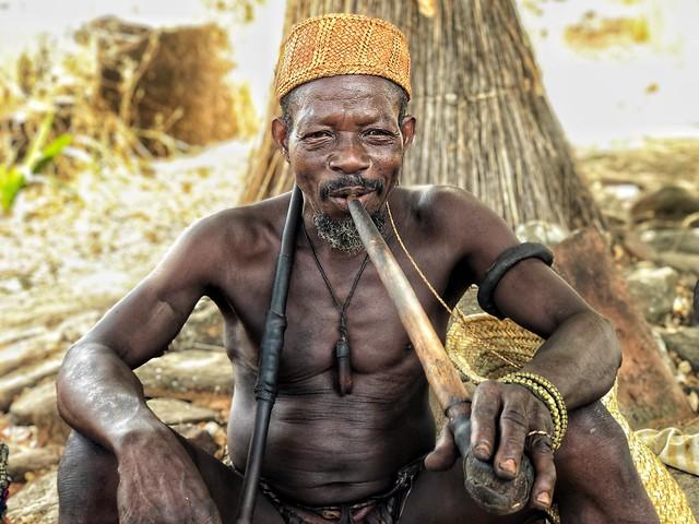 Hechicero taneka en Benín