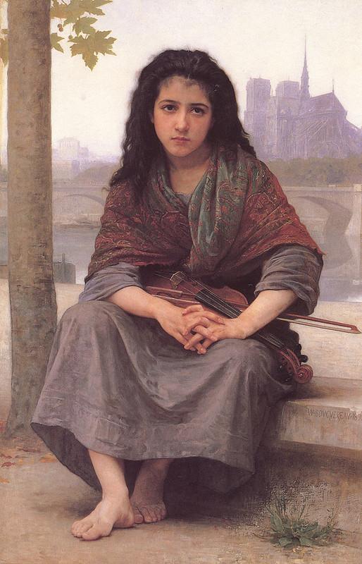 La niña bohemia, un cuadro de William-Adolphe Bouguereau, 1890.