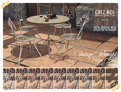 Vintage Wrought Patio Set CHEZ MOI