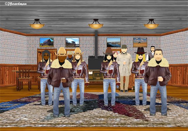 Hopkins' men and new Recruits ©Jack Boardman