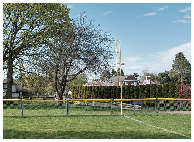 the right field foul pole