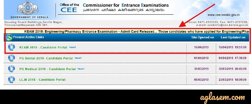 KEAM 2019 Admit Card Released; Exam to Be Held On 02 & 03 May 2019