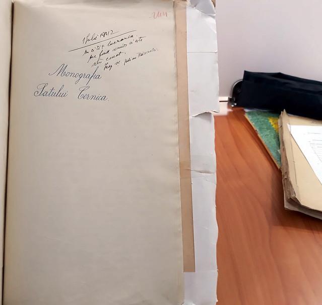 Monografie sat Cernica. Invatatoare Hrisia Mihai. 1942