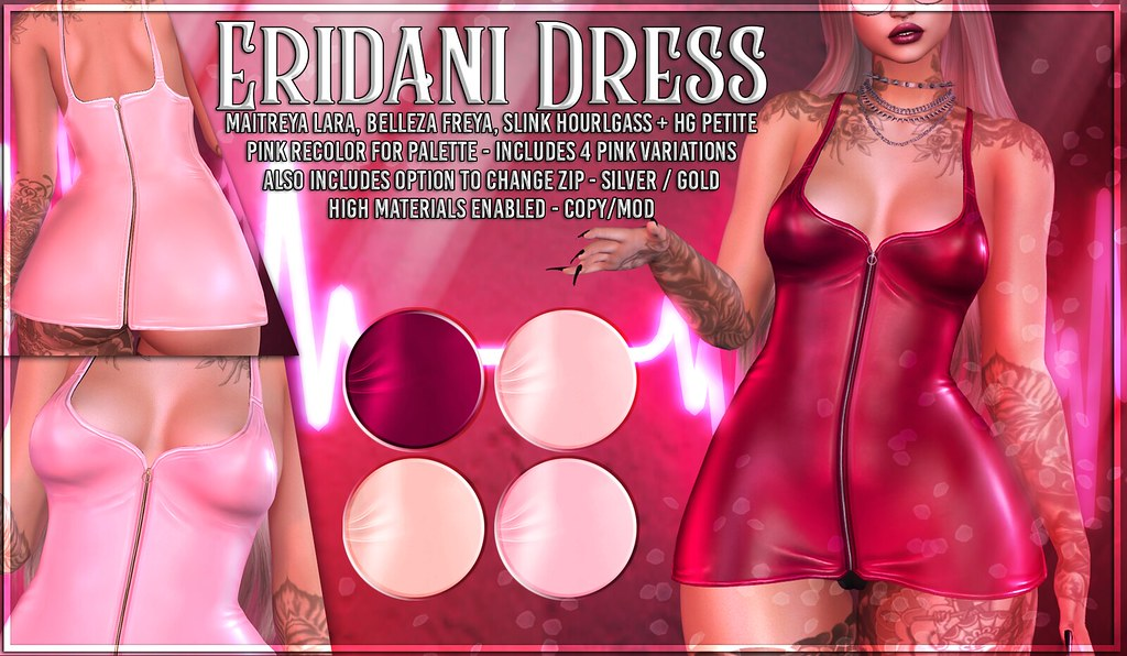 AsteroidBox. Eridani Dress – Pinks for Palette