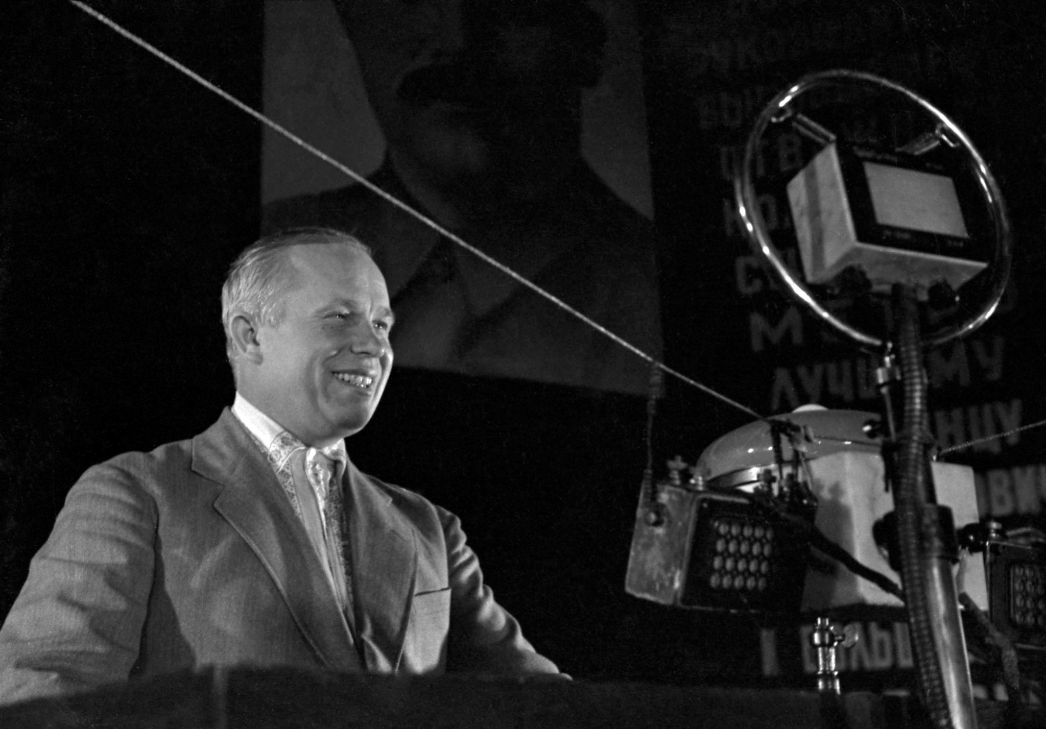 1935. Выступление Никиты Хрущева на собрании, посвященном пуску московского метро