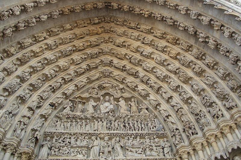 Центральный портал, Амьенский собор, Амьен, Франция