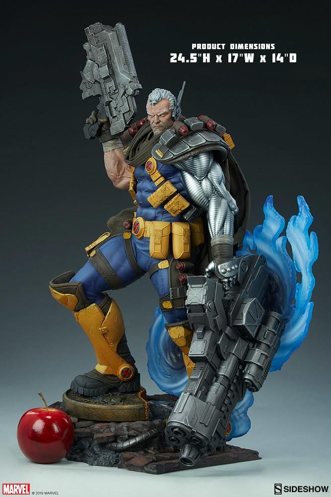 巨大雙槍超霸氣!! Sideshow Collectibles Premium Format Figure Marvel Comics【機堡】Cable 1/4 比例全身雕像作品 普通版/EX版