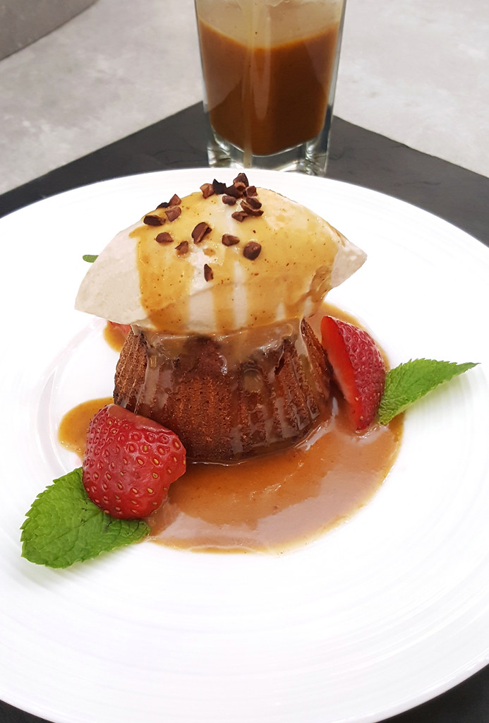 """Sticky Date Pudding with Sariba """"Root Beer"""" Ice Cream"""