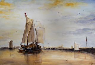 D'après Turner, Le bateau de Rotterdam.