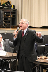 Rep. Simanski speaks during an informational forum on proposed toll legislation and transportation funding