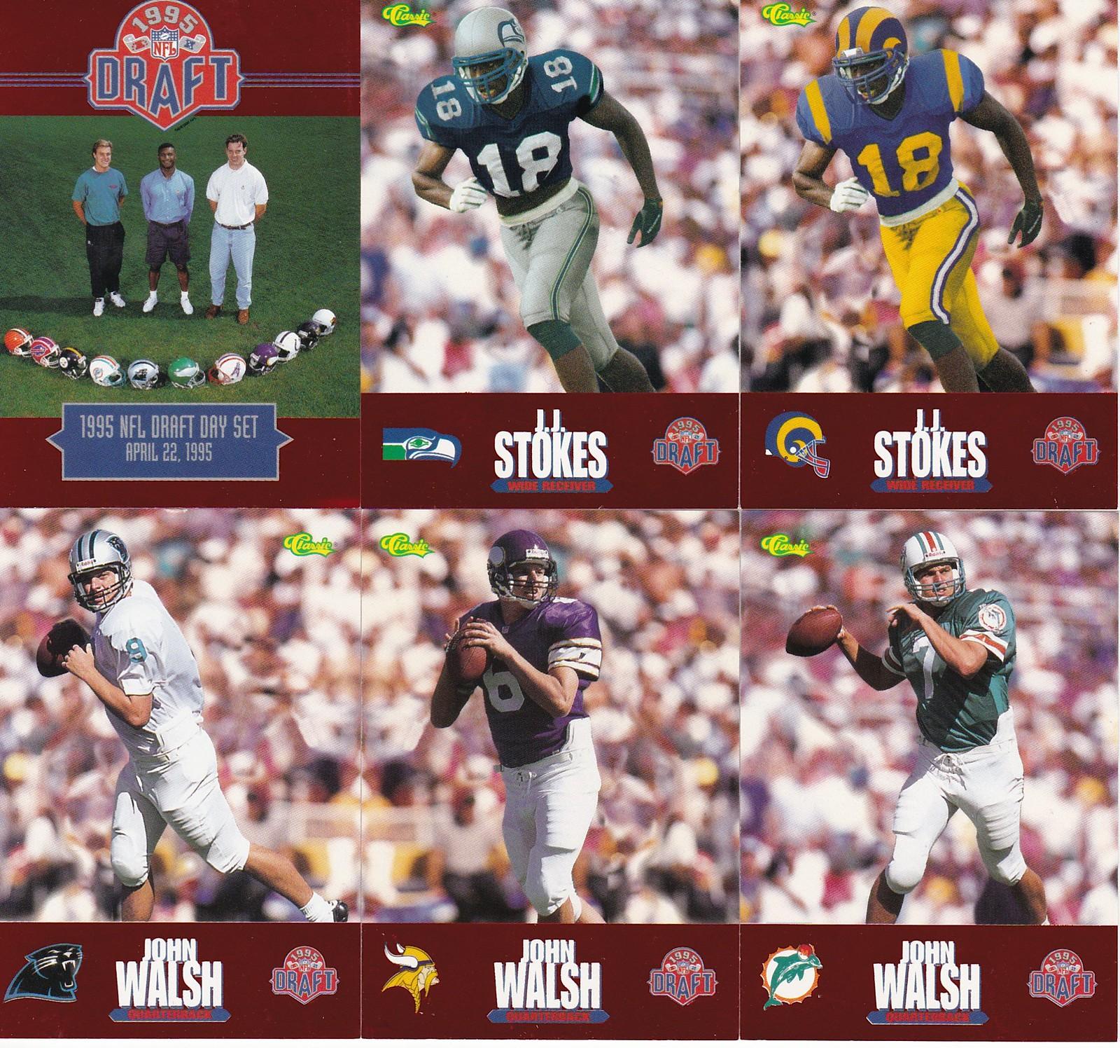 e87cad38c3bb Vintage Memorabilia Find  1995 NFL Draft Trading Cards