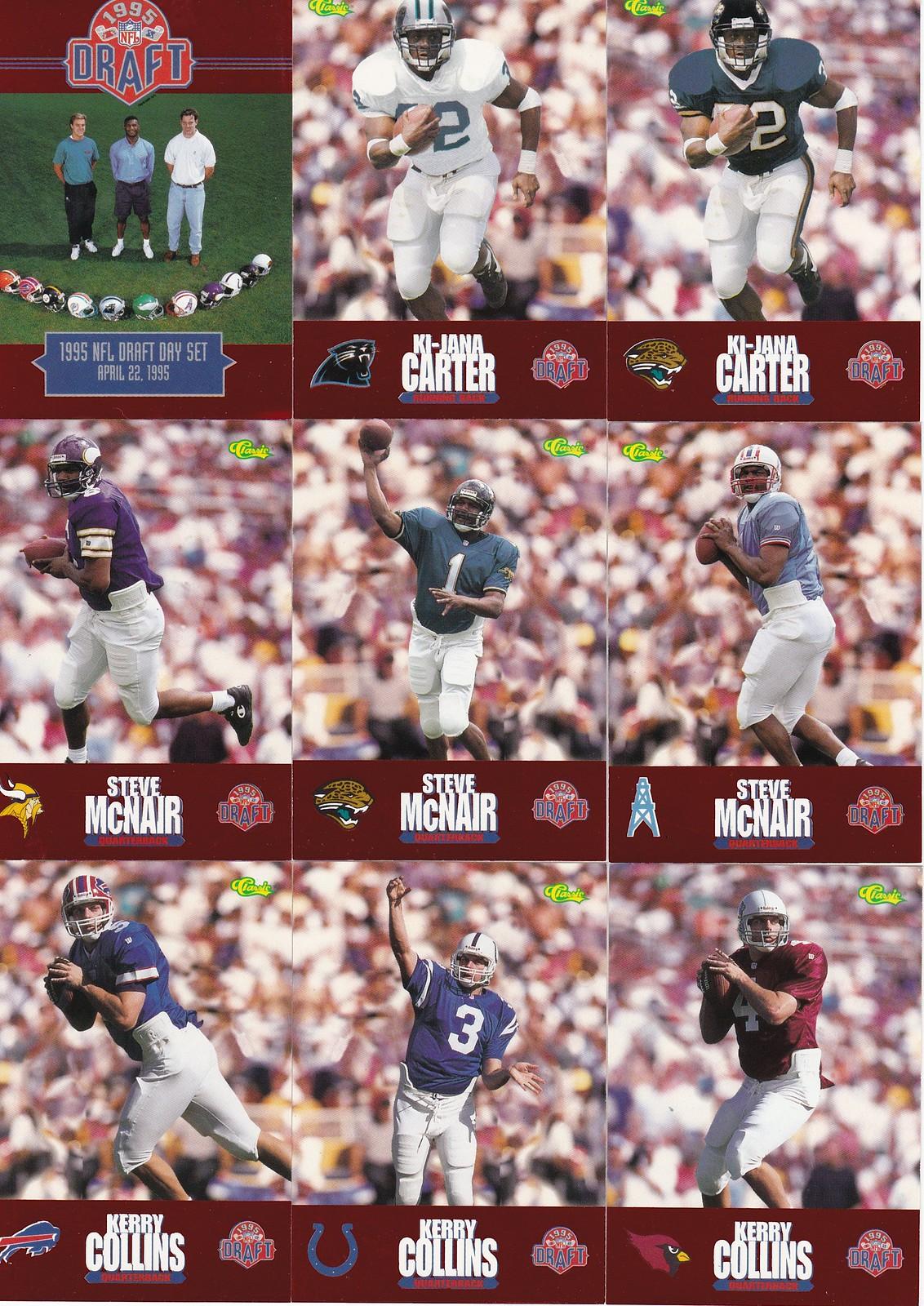 853b01b0475 Vintage Memorabilia Find  1995 NFL Draft Trading Cards