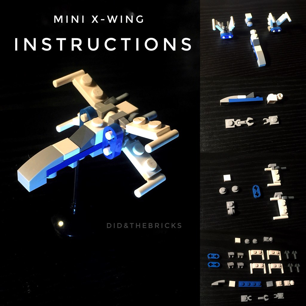 Mini X-Wing with instructions