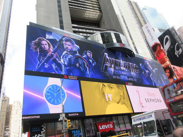 Avengers Endgame Electric Billboard Times Square 6366