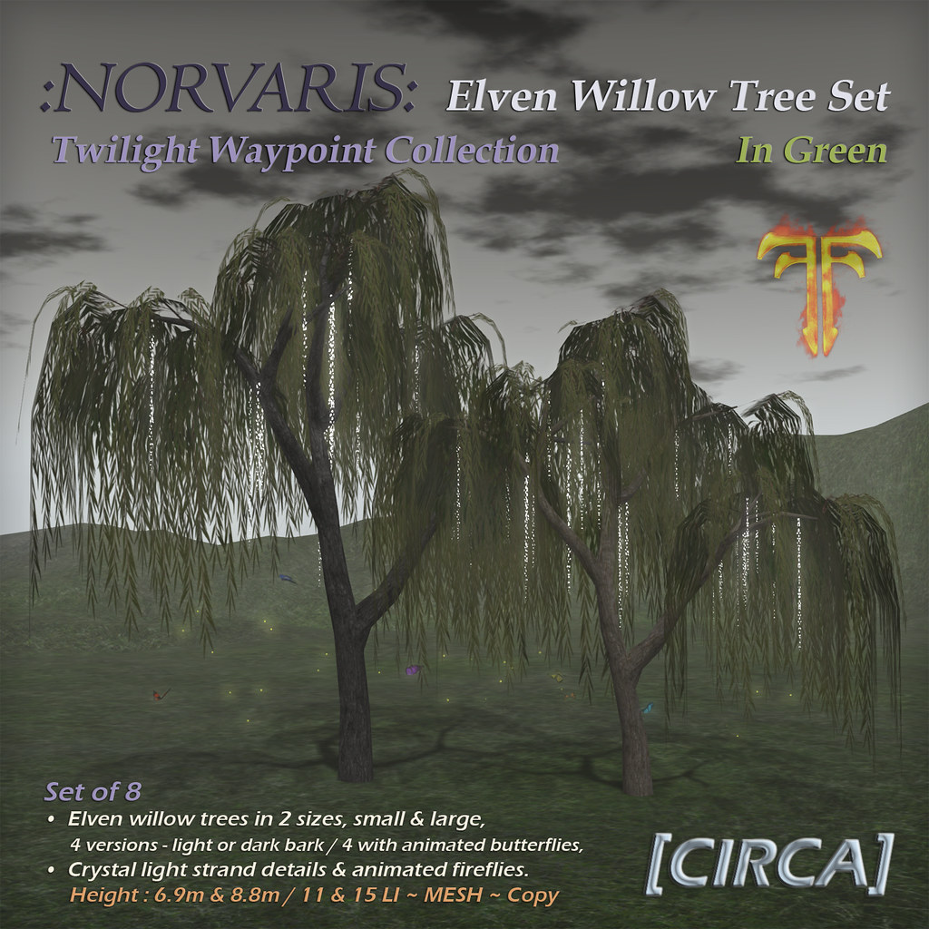 @ Fantasy Faire 2019 | [CIRCA] – :Norvaris: Elven Tree Set – In Green