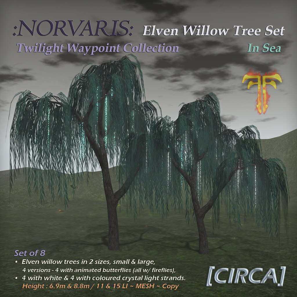 @ Fantasy Faire 2019 | [CIRCA] – :Norvaris: Elven Tree Set – In Sea