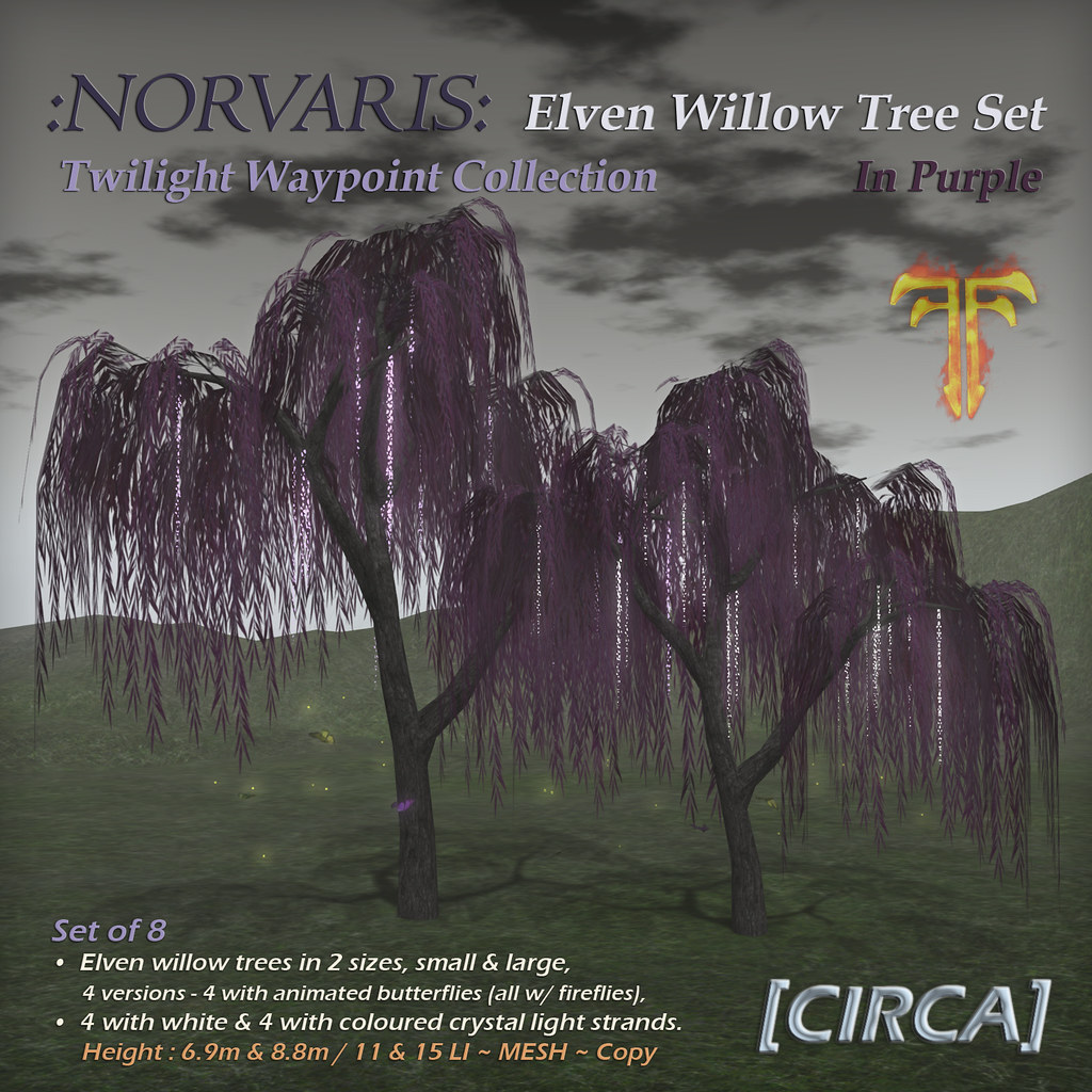 @ Fantasy Faire 2019 | [CIRCA] – :Norvaris: Elven Tree Set – In Purple