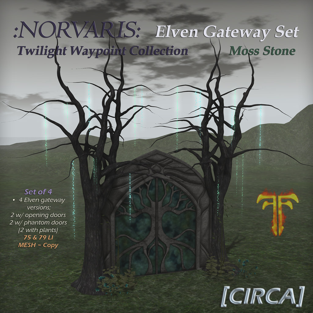 @ Fantasy Faire 2019 | [CIRCA] – :Norvaris: Elven Gateway Set – Moss Stone