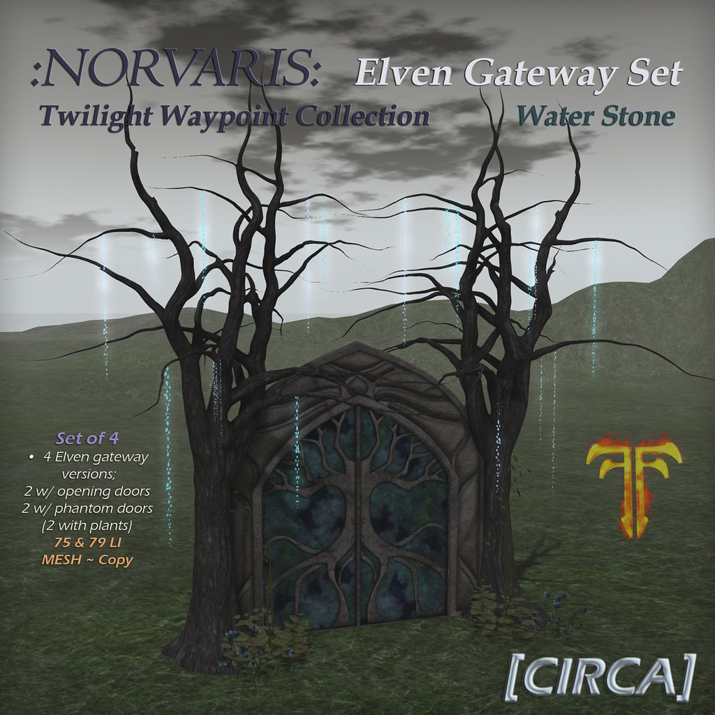 @ Fantasy Faire 2019 | [CIRCA] – :Norvaris: Elven Gateway Set – Water Stone