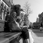 Seated street candid in Preston