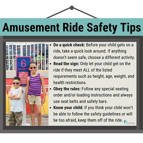 Amusement Ride Safety Tips (Kids by Sign) - Instagram | by preventchildinjury