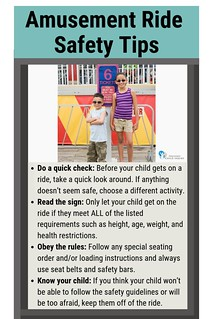 Amusement Ride Safety Tips (Kids by Sign)  - Pinterest | by preventchildinjury