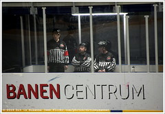 Preparing for the game UNIS Flyers Heerenveen vs Mechelen Golden Sharks