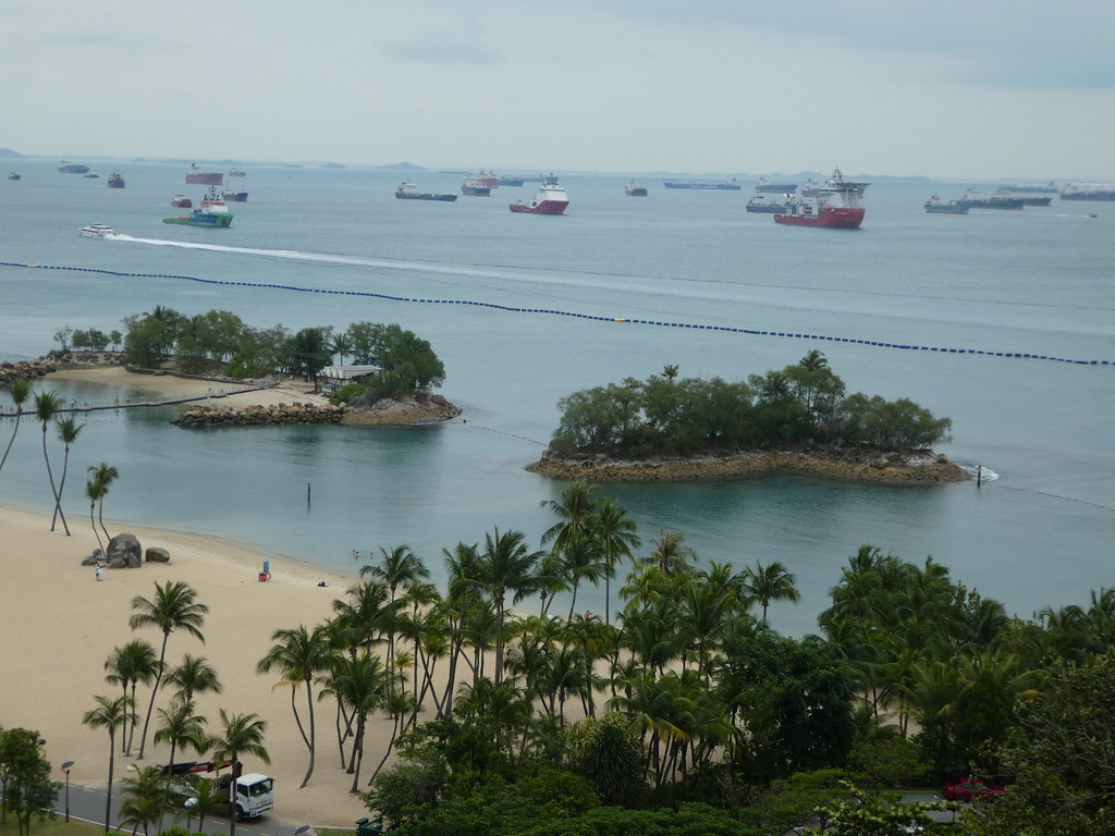 Siloso Beach viewed from the Sentosa Line Cable Car