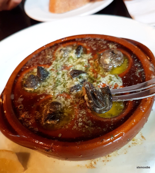 Escargots at Le Papillon On Front