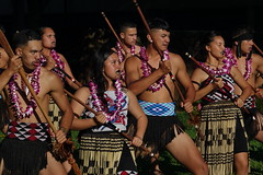 Performance by Awhina-i-te-Kaupapa, a group comprised of students and alumni from Te Wharekura O Rakaumanga (New Zealand), a Maori immersion school