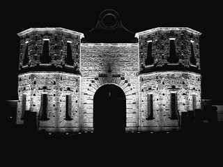 Fremantle prison - colours of the night - B&W 01