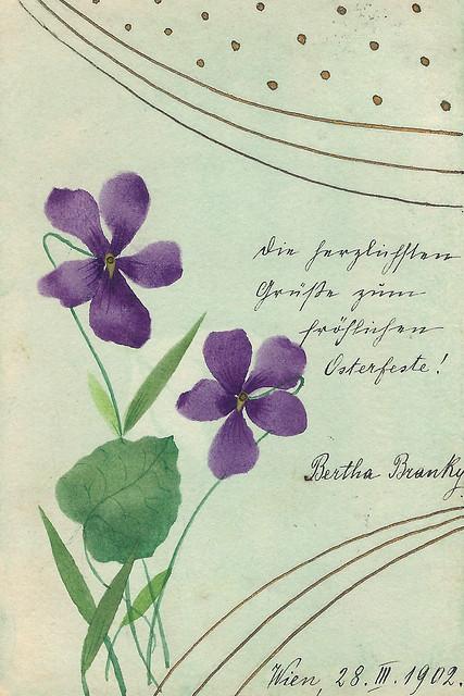"""""""Joyeuses Pâques"""", """"Fröhliche Ostern"""" - Post- und Ansichtskarten aus meiner Sammlung alter Karten (circa 1900 bis 1920)"""