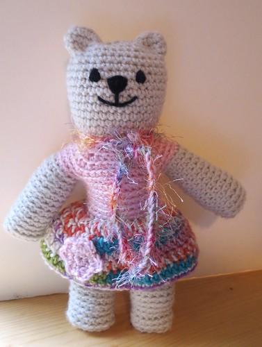 Mother Bear in Flower Skirt