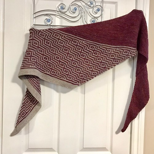 Blocked and ends woven in last weekend on my Barnstable by Lisa Hannes