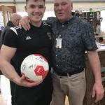 Man of the Match Craig Reid with MOM Sponsor Graeme Kennedy