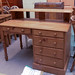 Waxed solid pine  desk E210