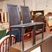 Brown leatherette kitchen chair E30