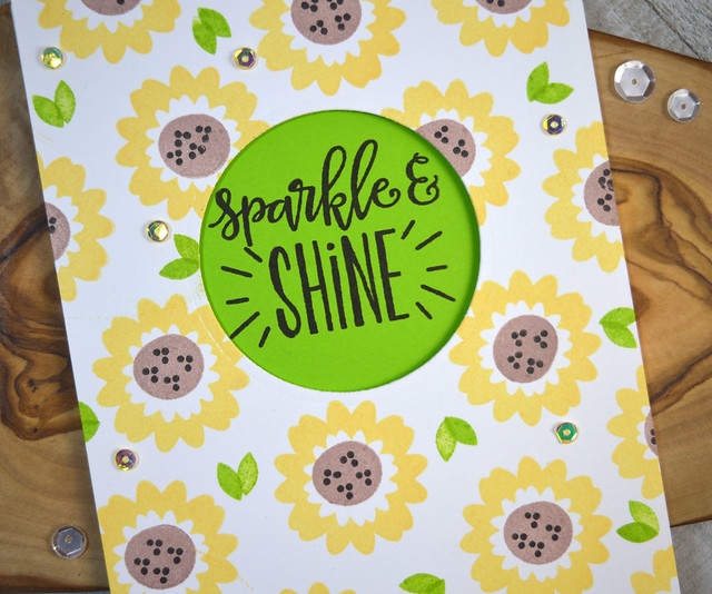 Jen Carter CP Be Wild Sunflower Sparkle Shine Closeup