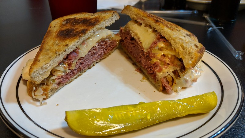 Reuben Sandwich at Tin Lizzie Cafe, Richmond, IN