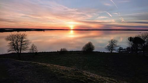 sunset sunsetlight lake hornborgasjön landscape nature naturepreserve reflections outdoor light beautifulday beauty