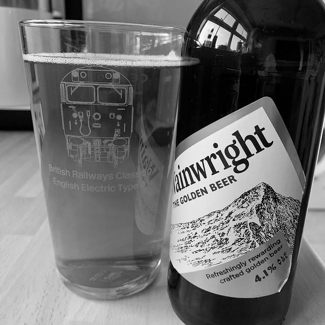Emjoying a beer