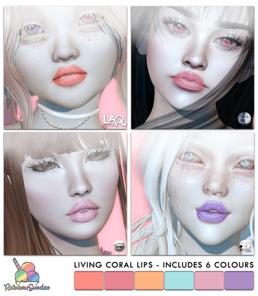 *Rainbow Sundae* Living Coral Lips @ Cosmetic Fair