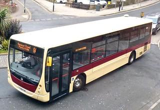 YX58 CWA 'East Yorkshire Motor Services' No. 361 'Scarborough & District'. Volvo B7RLE / Plaxton Centro on Dennis Basford's railsroadsrunways.blogspot.co.uk'